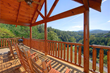 view from the Southern Comfort cabin in Pigeon Forge's back deck