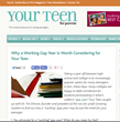 Your Teen Magazine for Parents Explores Working Gap Year in New Series