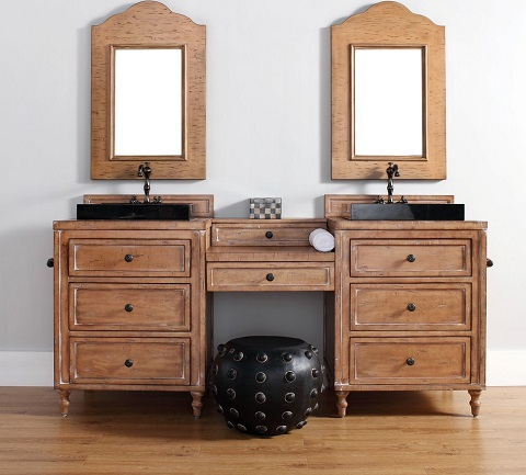 copper cove double makeup bathroom vanity 300 v26 drp d from james martin furniture