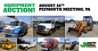 Large Public Auction, Plymouth Meeting, PA, August 16th: Over 700 Items Such As Bucket Trucks, Forestry Equipment And Construction Equipment Will Be Sold With No Reserve