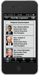 Purple Forge Mobile Apps with KnowWho Political Data