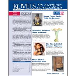 kovel, antiques, collectibles, bank, hummel, medicine bottle, hermes scarf, shaker furniture, quezal, art glass