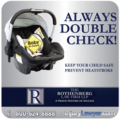 The Rothenberg Law Firm LLP Heat Stroke Baby Car Sticker