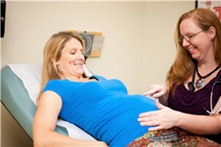 Nurse-Midwife and Pregnant Mother