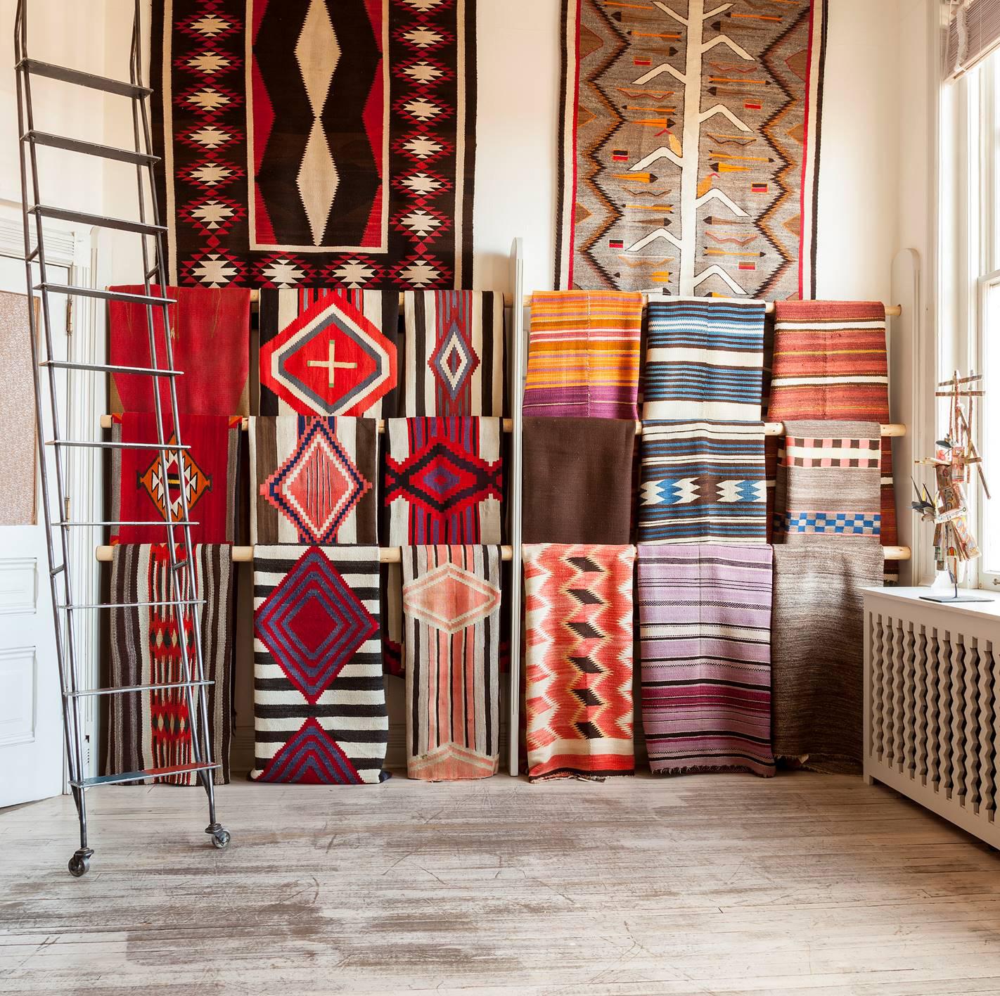 Native American Rugs In Santa Fe: Shiprock Santa Fe Gallery Presents Trunk Show Of Rare