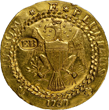 Insured for $10 million, the legendary 1787 Brasher Doubloon will be displayed to the public by Monaco Rare Coins at the 2014 Chicago World's Fair of Money, August 5 - 9, 2014. (Photo by NGC.)