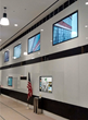 The video wall at The Starrett Lehigh Building uses Navigo Software to further communicate with tenants and guests.