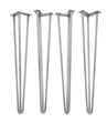 Stainless Steel 3-Rod Hairpin Legs.