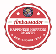 Happiness Happens Month Ambassador Badge