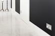 True Edge switch plate, satin chrome, Lansdowne House interior