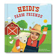 """My Farm Friends"" is an adorable personalized board book in which young readers become the central character (farmer) on their very own farm!"