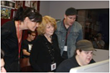 Exceptional Minds' Susie Zwerman and student Jeremy Pollack shown with RKO Pictures' Vanessa Coifman and director Kyle Newman during a recent open house attended by the movie industry.