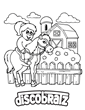 DiscoBratz Offers Horses on the Farm Coloring Book Page