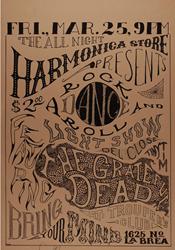 Grateful Dead Trouper's Club Concert Poster