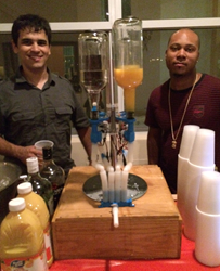 Antonio Shelton and Erick Perez Pour Tropical Rum Drinks with the Butler3000.