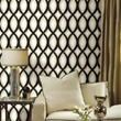 """Links"" wallpaper is from the Dimensional Surfaces collection by Candice Olson for York Wallcoverings."