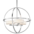 Kichler's Olsay collection incorporates the trend for circular accents, which were so popular in the 1950s and 1960s.