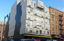 The exterior of The Stack (4857 Broadway), courtesy of Deluxe Building Systems, Inc