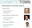 The New Doctors' Directory, Cosmetic Town Does the Research for...