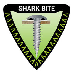 Shark bite fasteners for roofing and siding