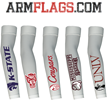 ARMFLAGS DESIGNS ON WHITE ARM-SLEEVES