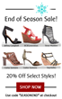 Shoeflake.com Shoppers Get the Latest Designer Sandals for Less during End of Season Sale