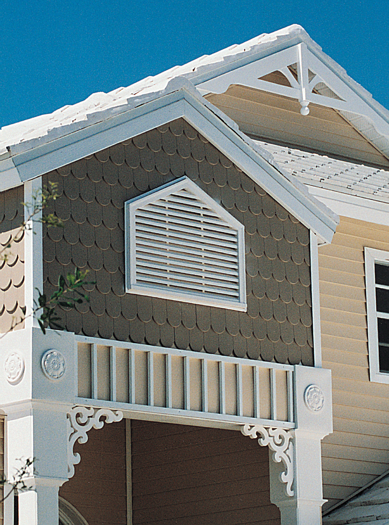 25 ways to add curb appeal to the home during national for Fypon gable trim