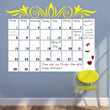 The new Dry Erase Calendar from Trendy Wall Designs