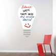The Lightbulb Dry Erase Decal from Trendy Wall Designs