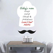 The Chef's Hat Dry Erase Decal from Trendy Wall Designs