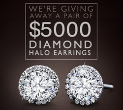 Adiamor Halo Diamond Earrings Jewelry Sweepstakes