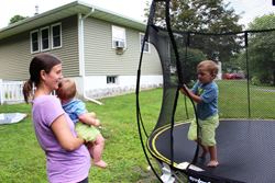 Best in Backyards giveaway Springfree trampoline installation delivery