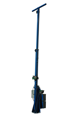 Telescoping Light Mast with 360° Rotating Capabilities and Two Electric Winches for Operation