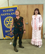 Kat Borrelli as Peter Pan and Valerie Rose Lohman as Wendy gave a sneak preview to the Tustin-Santa Ana Rotary Club on Thursday, August 1 at the Tustin Ranch Golf Club