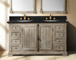 "Providence 60"" Double Bathroom Vanity In Driftwood From James Martin Furniture 238-105-5611"