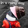 BD2040 PATENT POLYESTER RAIN BUCKET HAT