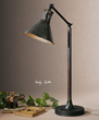 Arcadia Desk Lamp 29335-1 From Uttermost