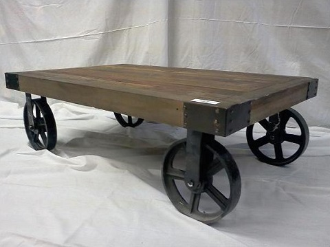 Coffee Table Wheels Has Introduced A Guide To Using Vintage - Industrial Coffee Table With Wheels
