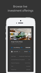 Viewing real estate investment opportunities via an app