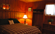 New queen size beds with cozy bedding have replaced bunk beds in some rooms at Elvyn Lea Lodge.