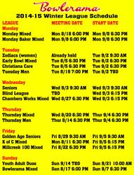 Winter League Schedule