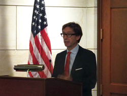 German Ambassador Peter Wittig addressed the 75 Congress-Bundestag Youth Exchange for Young Professionals (CBYX) participants before they headed off to Germany to begin their year-long program.