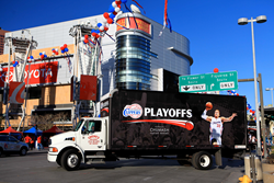 LA Clippers Chumash Casino Resort - TSN truckside advertising