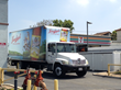 A TSN truck promoting Leinenkugel's Summer Shandy making deliveries in Los Angeles