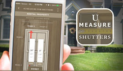 UMeasure Mobile App for Outdoor Shutters, from Timberlane