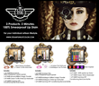 Steampunk Lip Color Product Information Card