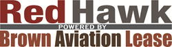 RedHawk powered by Brown Aviation Lease logo