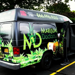 marijuana doctors marketing van