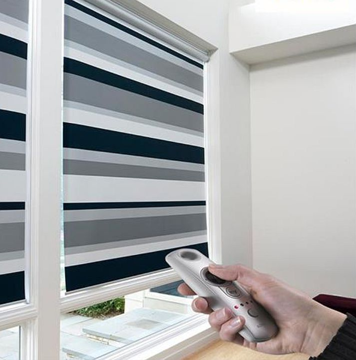 Budget blinds enhances home automation with motorized for Budget blinds motorized shades