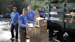 ATGStores.com employees helped load all donations on to Habitat for Humanity trucks.